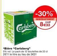 """*Bière """"Carlsberg"""" offre à 8,33€"""