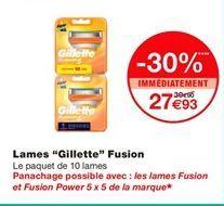 """Lames """"Gillette"""" Fusion offre à 27,93€"""