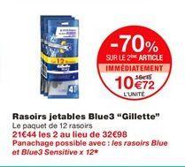 """Rasoirs jetables Blue3 """"Gillette"""" offre à 16,49€"""
