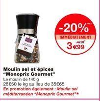"""Moulin sel et épices """"Monoprix Gourmet"""" offre à 3,99€"""