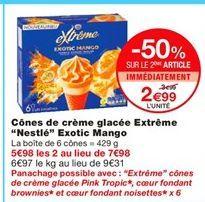 """Cones de crème glacée Extreme """"Nestlé"""" Exotic Mango Nestlé offre à 3,99€"""