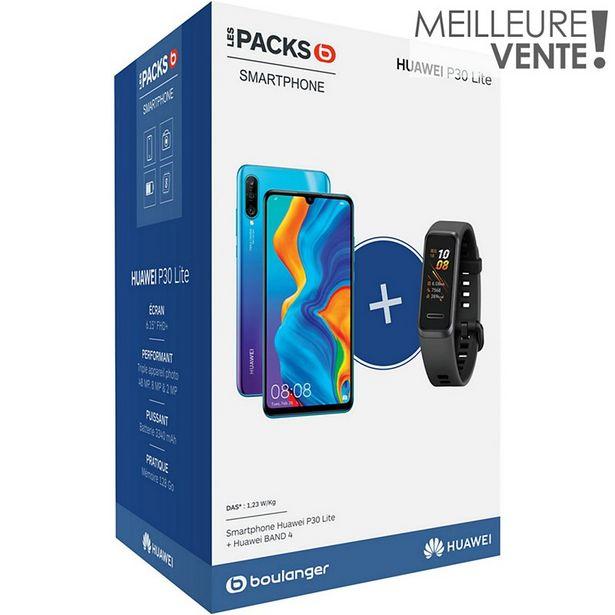 Smartphone Huawei Pack P30 Lite Bleu 128 Go + Band 4 Noir offre à 249€