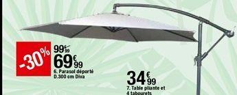 Parasol déporté Diva offre à 69,99€