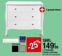 Commode 3 tiroirs Barroco offre à 149,99€