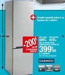 Combiné Daewoo offre à 399,99€