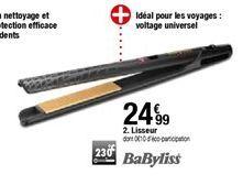 Lisseur Babyliss offre à 24,99€