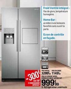 Réfrigérateur américain Samsung offre à 999,99€