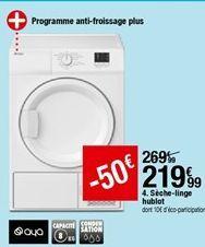 Sèche-linge hublot Aya offre à 219,99€