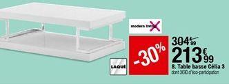 Table basse Célia 3 offre à 213,99€
