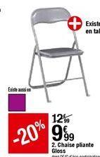 Chaise pliante Gloss offre à 9,99€