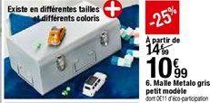 Malle Metalo gris petit modéle offre à 10,99€