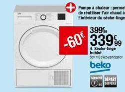 Sèche-linge hublot Beko offre à 339,99€