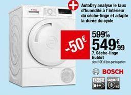 Séche-linge Hublot Bosch offre à 549,99€