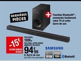 Barre de son Samsung offre à 94,99€
