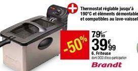 Friteuse Brandt  offre à 39,99€