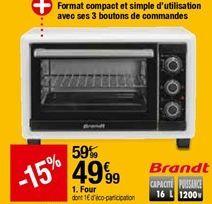 Four Brandt offre à 49,99€
