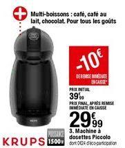 Machine a Dosettes Piccolo offre à 29,99€