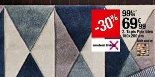 Tapis Pise bleu offre à 69,99€