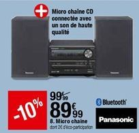 Micro Chaine Panasonic  offre à 89,99€