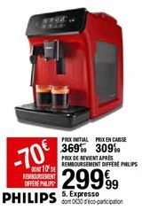Expresso PHILIPS offre à 209,99€