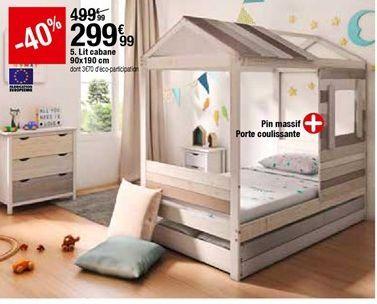Lit cabane offre à 299,99€
