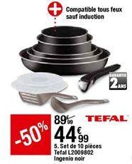 Set de 10 piéces Tefal offre à 44,99€