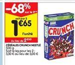Céréales crunch Nestlé offre à 1,65€