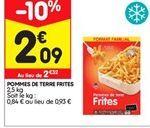 Pommes de terre frites offre à 2,09€