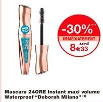 "Mascara 24ORE instant maxi volume waterproof ""Deborah milano"" offre à 8,33€"