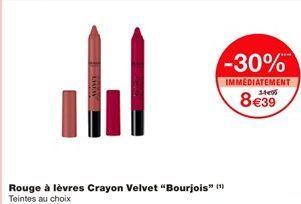 """Rouge à lèvres crayon velvet """"Bourjois"""" offre à 8,39€"""