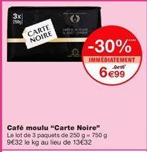 """Café moulu """"Carte noire"""" offre à 6,99€"""