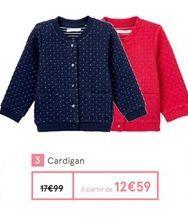 Cardigan offre à 12,59€