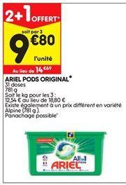 Ariel pods original offre à 14,69€