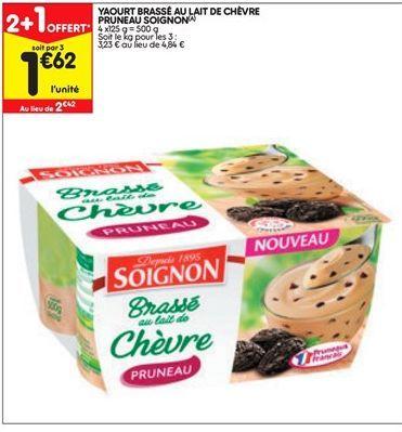 Yaourt brassé au lait de chèvre pruneau soignon offre à 1,62€