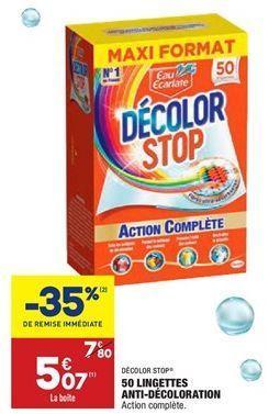 50 lingettes anti-décoloration offre à 5,07€