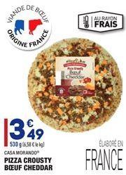 Pizza Crousty Boeuf Cheddar offre à 3,49€