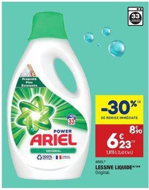 Lessive liquide  offre à 6,23€