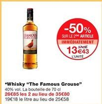 """Whisky """"The famous grouse"""" offre à 13,43€"""