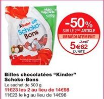 """Billes chocolatées """"Kinder"""" schoko-bons offre à 5,62€"""