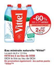 Eau minérale naturelle Vittel offre à 2,1€