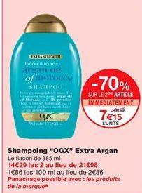 "Shampoing ""OGX"" extra argan offre à 7,15€"