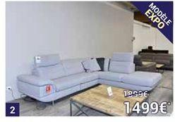 Salon d'angle en tissu avec relax électrique offre à 1499€