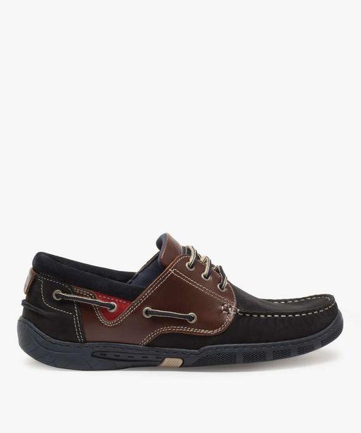 Chaussures bateau homme à lacets dessus cuir offre à 27,49€