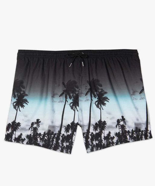 Short de bain homme à motifs palmiers - grande taille offre à 8,99€