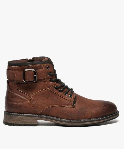 Boots homme zippées avec lacets et boucle décorative offre à 39,99€