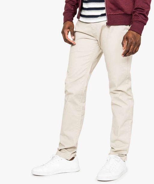 Pantalon homme chino coupe straight offre à 9,99€