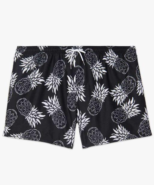 Short de bain homme à motifs ananas - grande taille offre à 8,99€