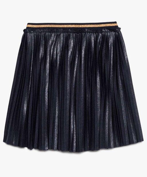 Jupe plissée fille avec paillettes et ceinture élastiquée offre à 6,49€