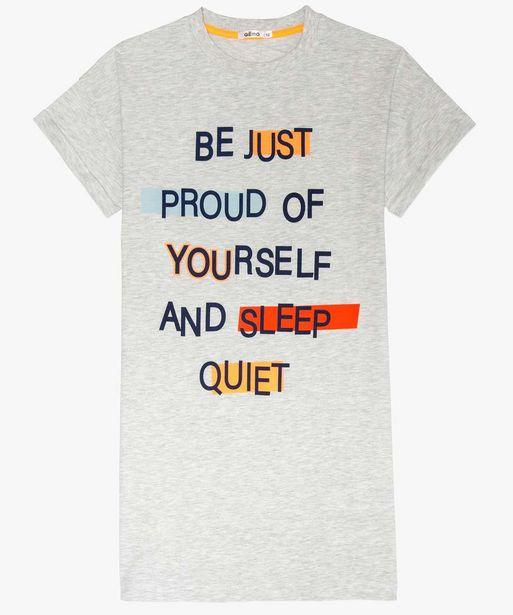 Chemise de nuit fille façon tee-shirt loose offre à 4,99€