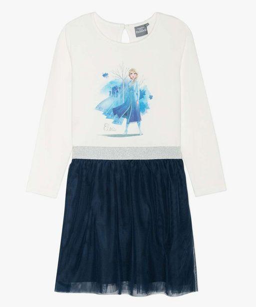 Robe fille bicolore La Reine des Neiges II offre à 9,99€